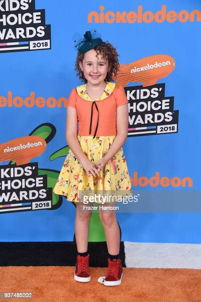 Nev Scharrel attends Nickelodeon's 2018 Kids' Choice Awards at The Forum on March 24 2018 in Inglewood California