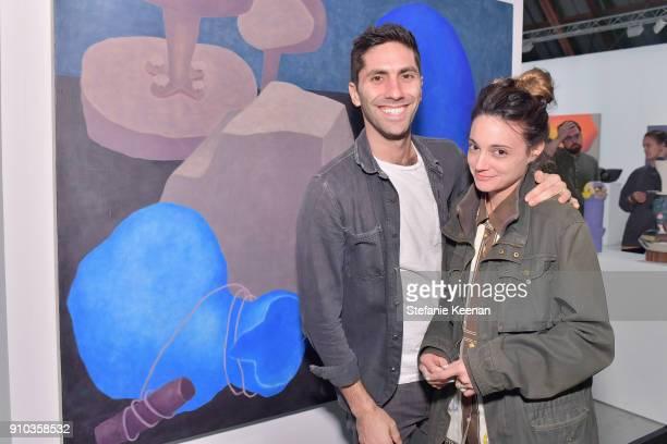 Nev Schulman and Laura Perlongo at OPENING NIGHT   ART LOS ANGELES CONTEMPORARY 9TH EDITION at Barkar Hangar on January 25 2018 in Santa Monica...