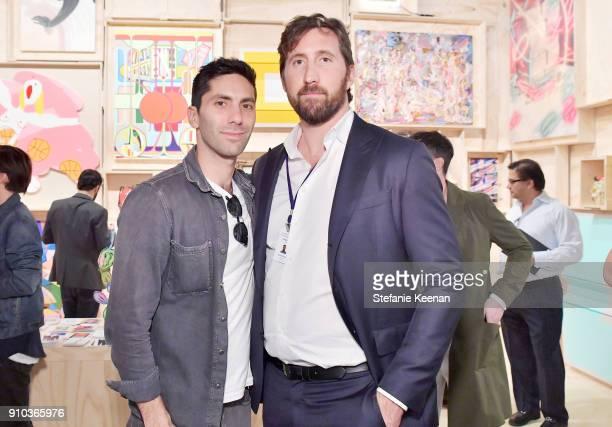 Nev Schulman and Ray Bulman at OPENING NIGHT   ART LOS ANGELES CONTEMPORARY 9TH EDITION at Barkar Hangar on January 25 2018 in Santa Monica California