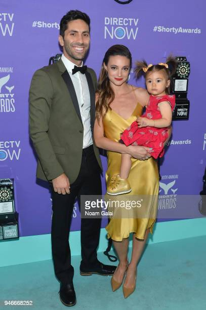 Nev Schulman Laura Perlongo and Cleo James attend the 10th Annual Shorty Awards at PlayStation Theater on April 15 2018 in New York City