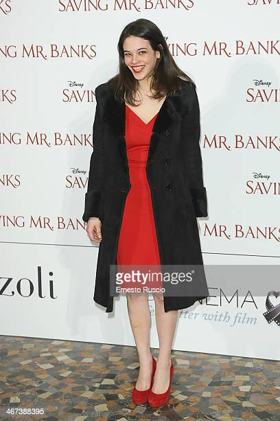 Neva Leoni attends the 'Saving Mr Banks' premiere at The Space Moderno on February 6 2014 in Rome Italy