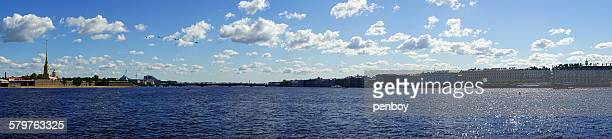 neva river and surrounding - neva river stock photos and pictures
