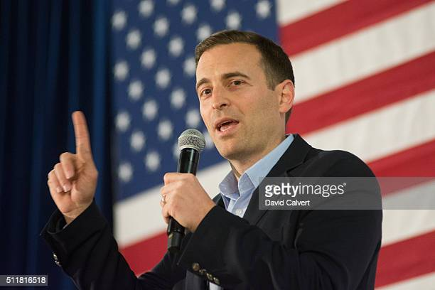 Nevada attorney general Adam Laxalt speaks at a rally for Republican presidential candidate Sen Ted Cruz at the Boys Girls Club of Truckee Meadows in...