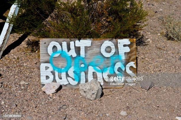 Nevada Beatty Angels Ladies Brothel Out Of Business Sign