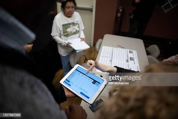 Nevada Caucus volunteers receive training for recording caucus results February 20 2020 in Las Vegas Nevada Nevada holds its caucus on February 22