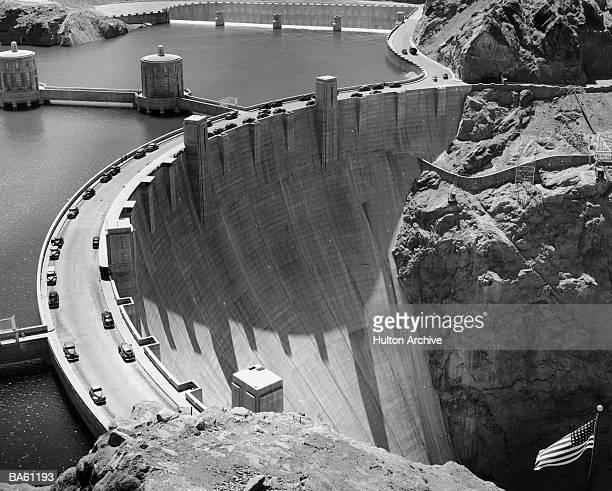 USA, Nevada, Colorado river, Hoover Dam (B&W)