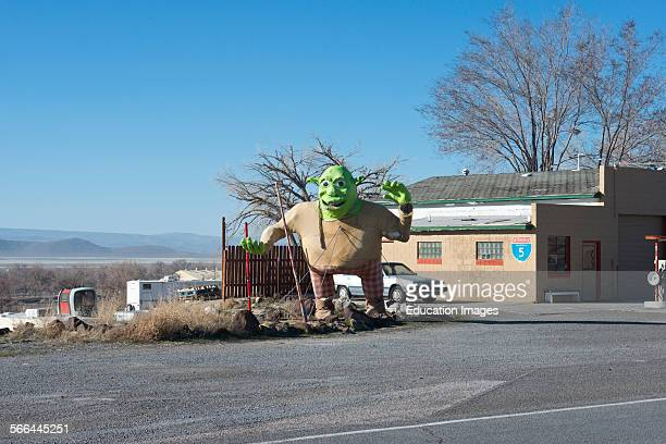 Nevada Empire Roadside Statuary of Shrek used at the Burning Man Festival