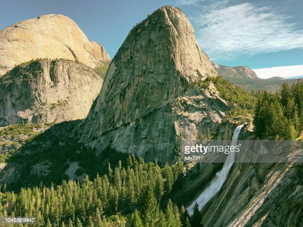 nevada falls, yosemite national park - john muir trail stock photos and pictures