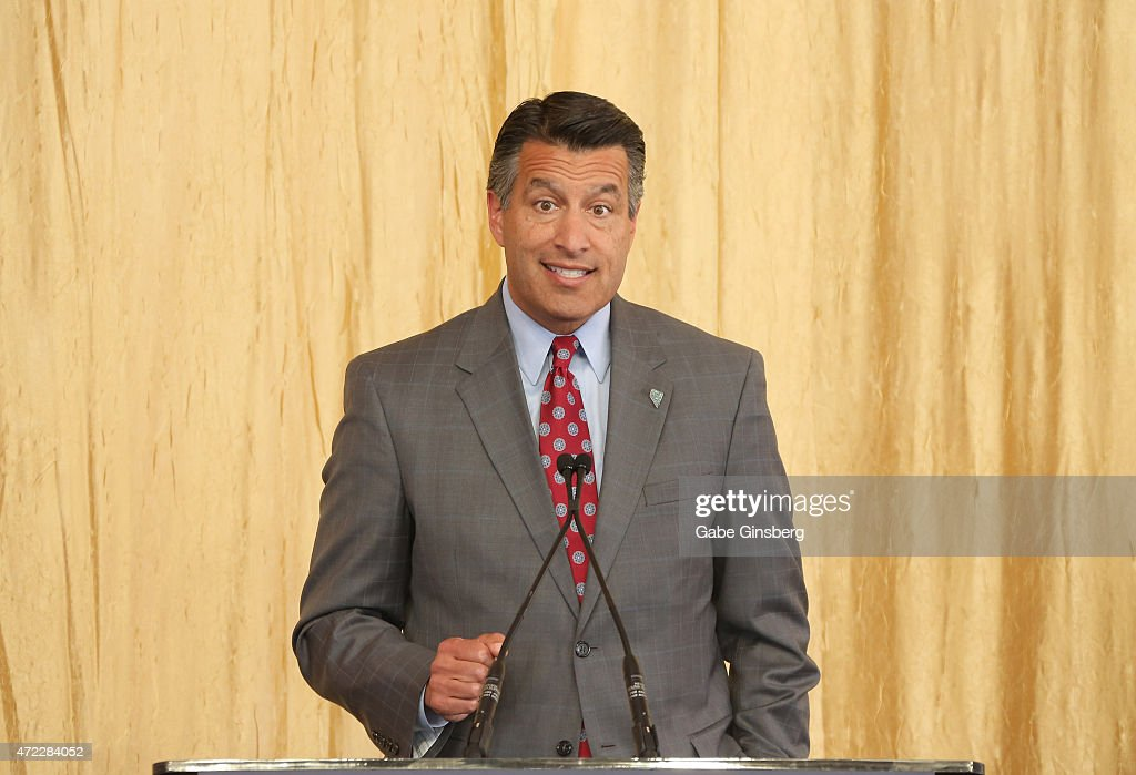 Nevada Gov. Brian Sandoval speaks during the Genting Group's ceremonial groundbreaking for Resorts World Las Vegas on May 5, 2015 in Las Vegas, Nevada. The USD 4 billion property on the Las Vegas Strip is expected to open in 2018 on the site of the former Stardust Resort & Casino.