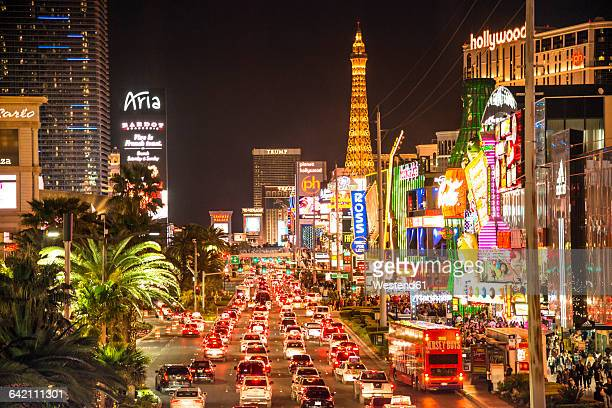 usa, nevada, las vegas at night - las vegas stock pictures, royalty-free photos & images