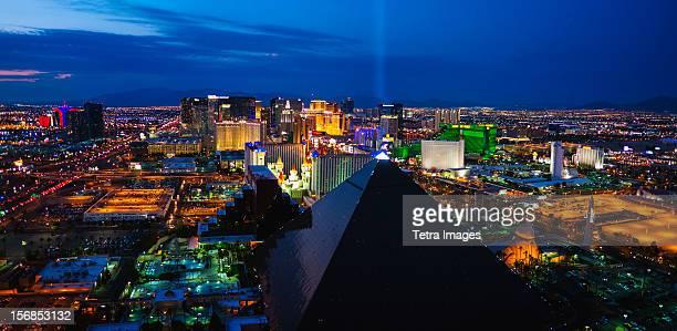 USA, Nevada, Las Vegas, Cityscape at night