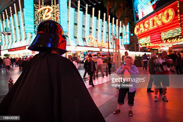 usa, nevada, las vegas, downtown, fremont street - star wars stock pictures, royalty-free photos & images