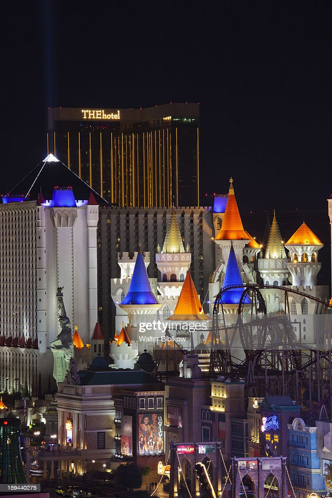 USA, Nevada, Las Vegas, Excalibur & Mandalay Bay : Stock Photo