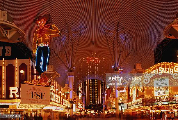 USA, Nevada, Las Vegas, Fremont Street at night