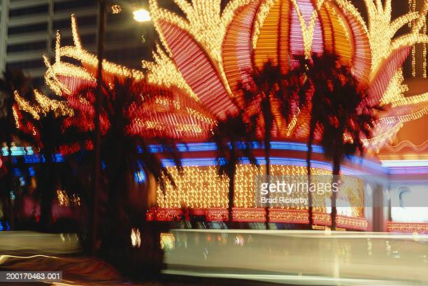 usa, nevada, las vegas, hotel neon lights - travel14 stock pictures, royalty-free photos & images