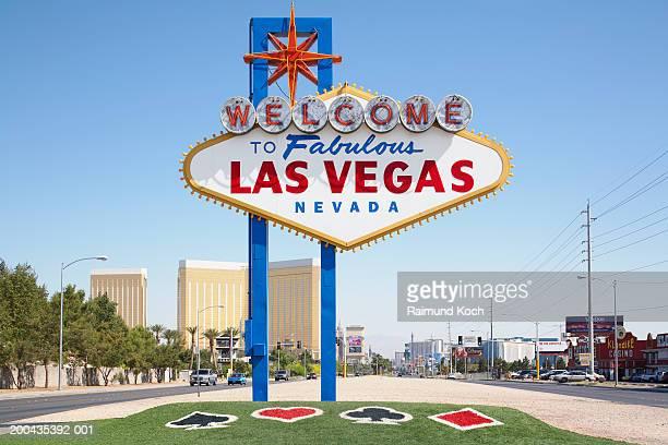 USA, Nevada, Las Vegas, welcome sign on Las Vegas Boulevard