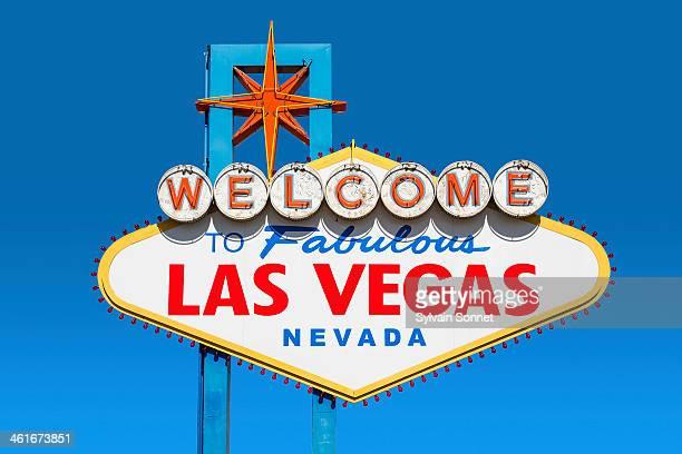 USA, Nevada, Las Vegas, welcome sign on Las Vegas
