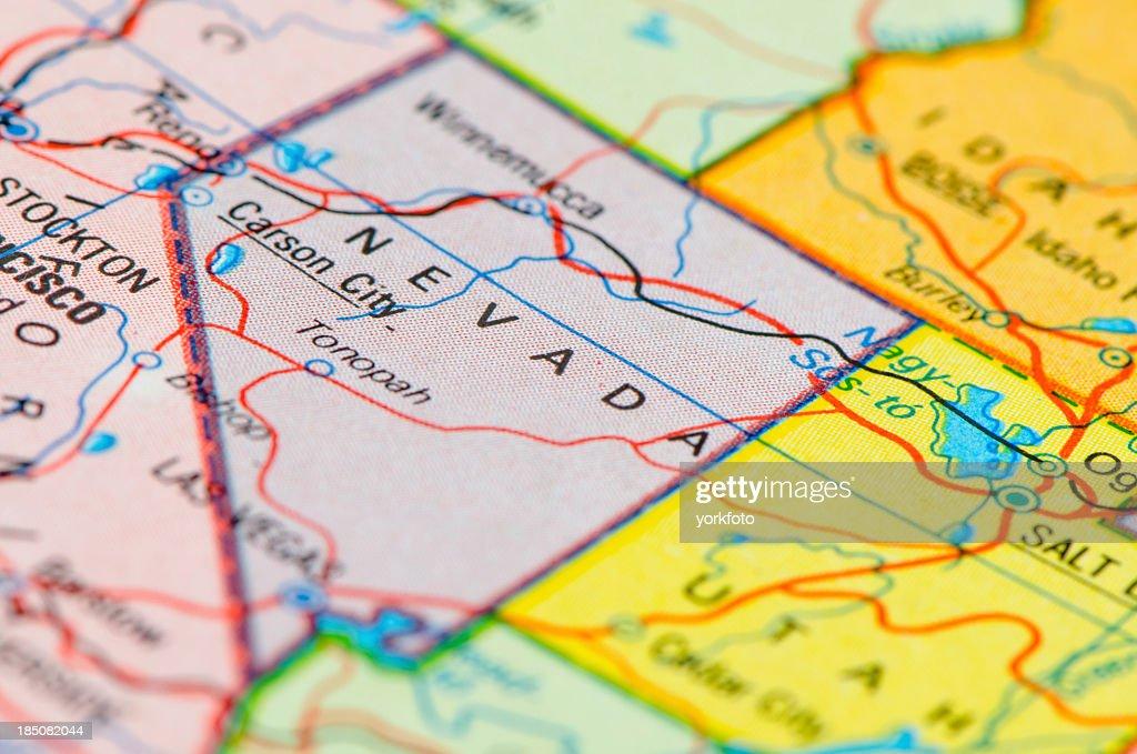 Nevada map : Stock Photo
