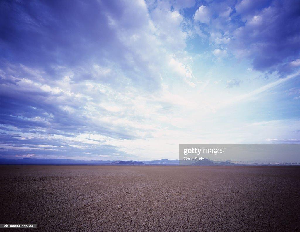 USA, Nevada, Mojave Desert, dramatic sky : Stock Photo