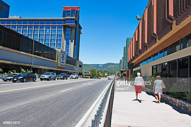nevada road south lake tahoe - harrah's stock pictures, royalty-free photos & images