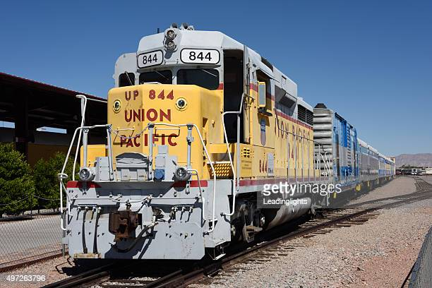 nevada southern railway train at boulder city - boulder city stock photos and pictures