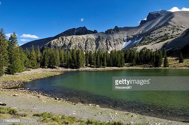 usa, nevada, teresa lake below mount wheeler peak at great basin national park - great basin stock pictures, royalty-free photos & images