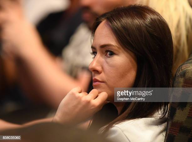 Nevada United States 23 August 2017 Dee Devlin during during a news conference at the MGM Grand in Las Vegas USA ahead of the super welterweight...