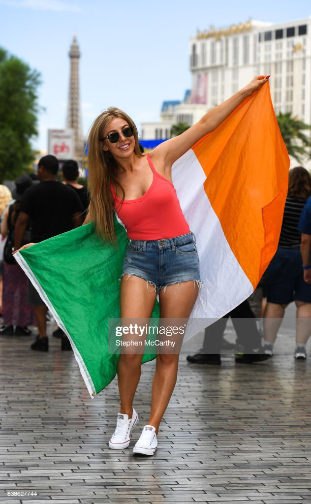 Nevada , United States - 24 August 2017; Conor McGregor supporter Gemma Hennessy in Las Vegas, prior to the boxing match between Floyd Mayweather Jr and Conor McGregor at T-Mobile Arena in Las Vegas, USA, on Saturday August 26.