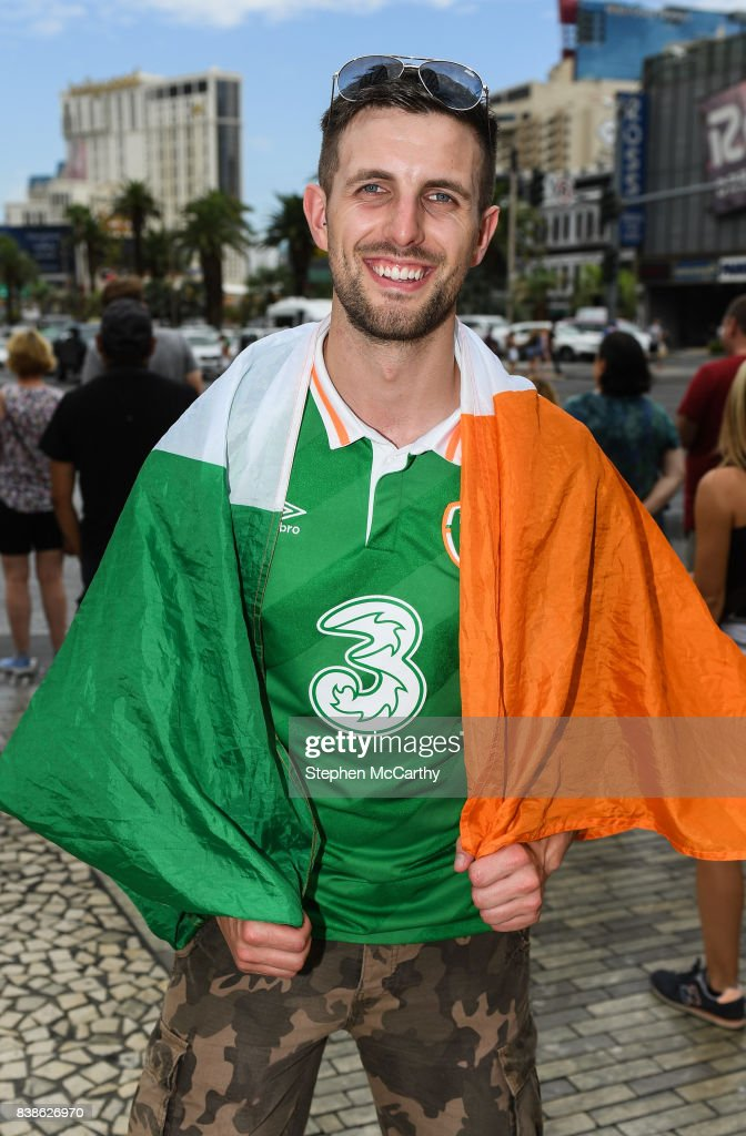 Nevada , United States - 24 August 2017; Conor McGregor supporter Mickey Cusack from Derry, in Las Vegas, prior to the boxing match between Floyd Mayweather Jr and Conor McGregor at T-Mobile Arena in Las Vegas, USA, on Saturday August 26.