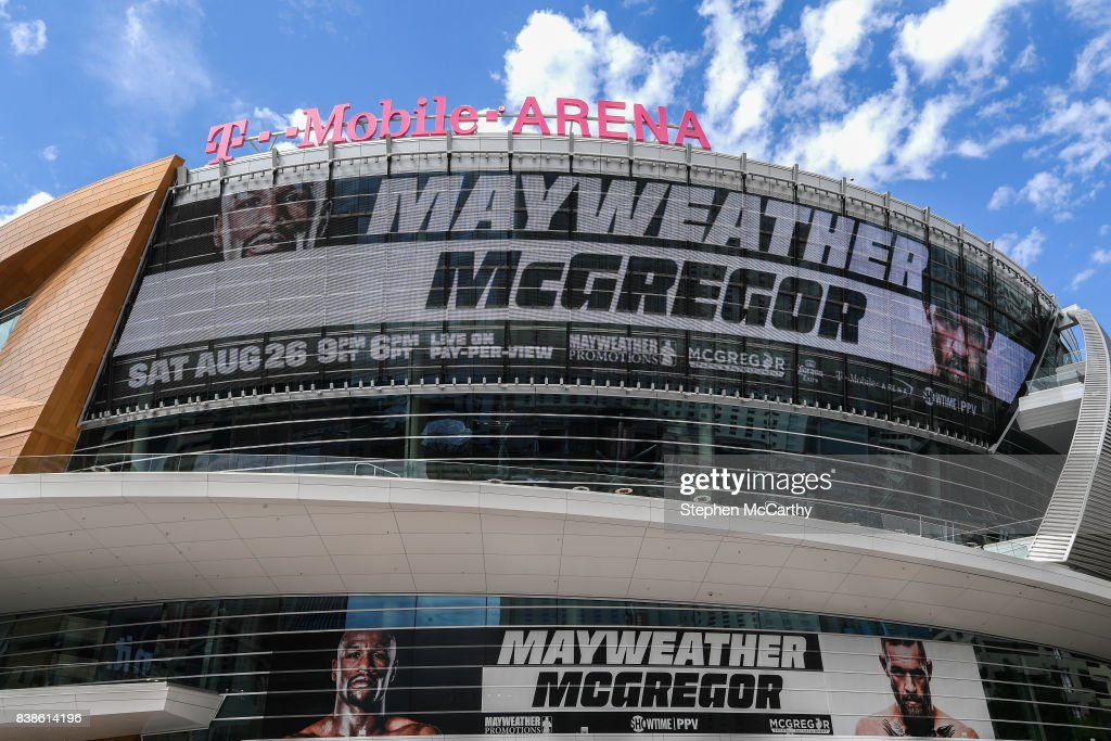 Nevada , United States - 24 August 2017; The T-Mobile Arena prior to the boxing match between Floyd Mayweather Jr and Conor McGregor at T-Mobile Arena in Las Vegas, USA, on Saturday August 26.