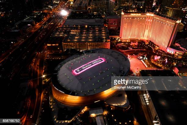 Nevada United States 25 August 2017 An aerial view of the TMobile Arena prior to the super welterweight boxing match between Floyd Mayweather Jr and...