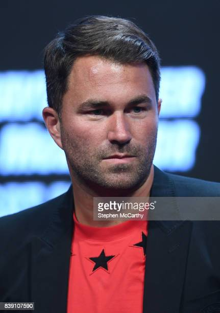Nevada United States 25 August 2017 Promotor Eddie Hearn during the weighin for the super welterweight boxing match bewteen Floyd Mayweather Jr and...
