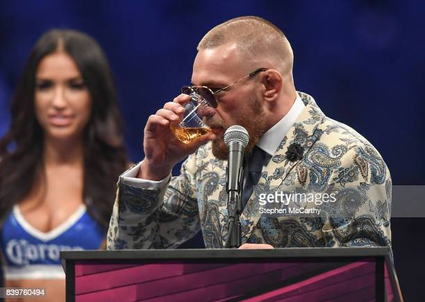 Nevada United States 26 August 2017 Conor McGregor during the post fight press conference following his super welterweight boxing match against Floyd...