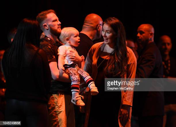 Nevada United States 3 October 2018 Dee Devlin and Conor McGregor Junior during open workouts at the Park Theater ahead of UFC 229 in Las Vegas...