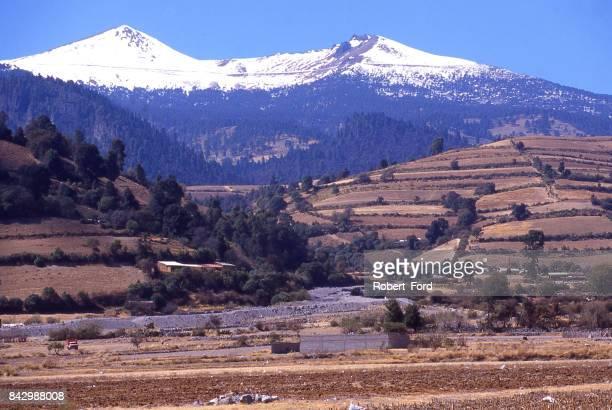 Nevado de Toluca or snow-capped peak and volcanoes near Toluca Mexico
