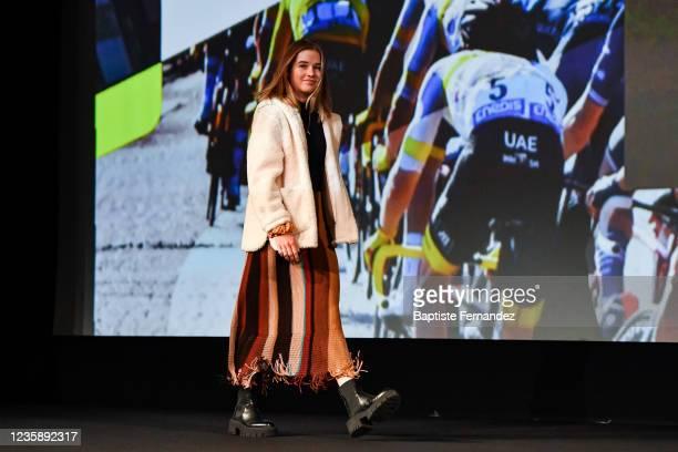 Neve BRADBURY during the presentation of the Tour de France 2022 at Palais des Congres on October 14, 2021 in Paris, France.
