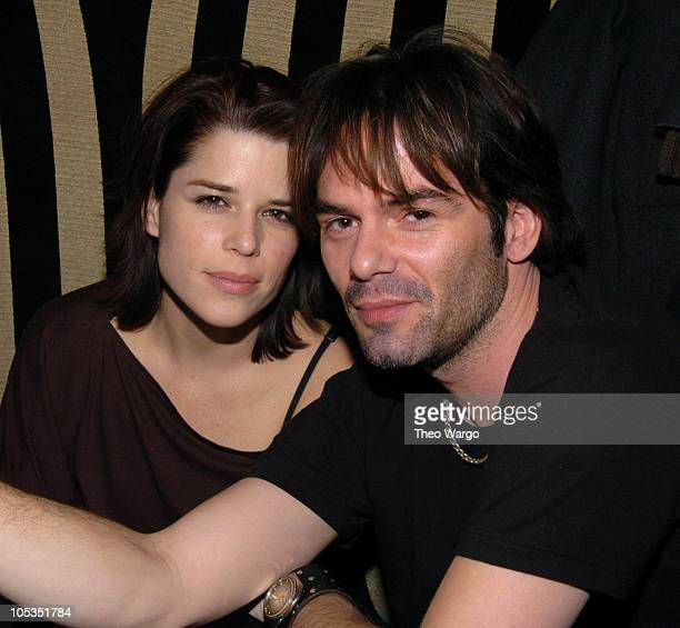 Neve Campbell and Billy Burke during David Bowie MSG After Party Hosted by Hilfiger at Bungalow 8 in New York City New York United States
