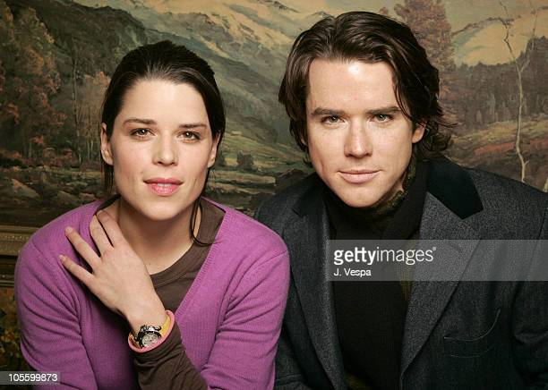 Neve Campbell and Christian Campbell during 2005 Sundance Film Festival Reefer Madness Portraits at HP Portrait Studio in Park City Utah United States