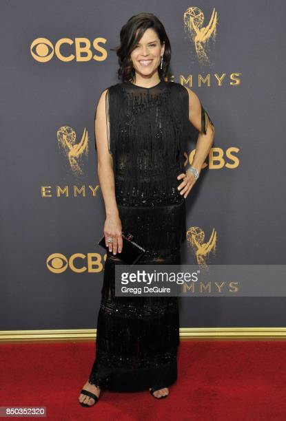 Neve Campbell arrives at the 69th Annual Primetime Emmy Awards at Microsoft Theater on September 17 2017 in Los Angeles California