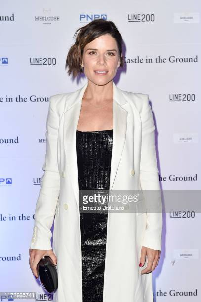 Neve Campbell arrives at the Castle in the Ground world premiere party at Weslodge during the Toronto International Film Festival on September 05...