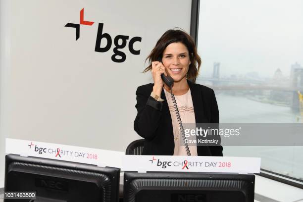Neve Campbell attends Annual Charity Day hosted by Cantor Fitzgerald BGC and GFI at BGC Partners INC on September 11 2018 in New York City
