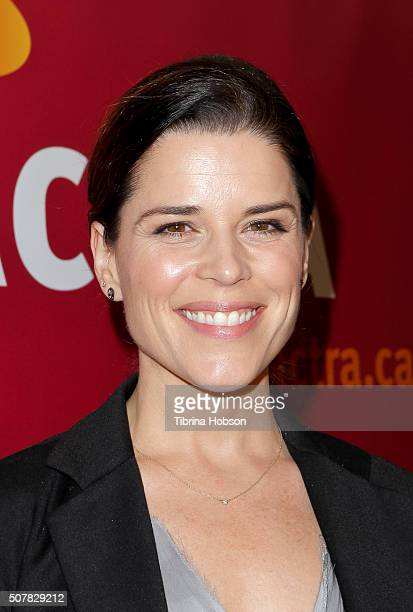 Neve Campbell attends the 2016 ACTRA National Award of Excellence at The Beverly Hilton Hotel on January 31 2016 in Beverly Hills California