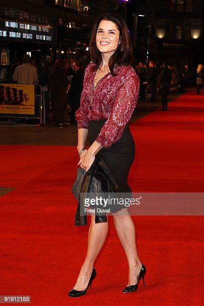 Neve Campbell attends the Gala Screening of 'Men Who Stare At Goats' during The Times BFI London Film Festival at Odeon Leicester Square on October...