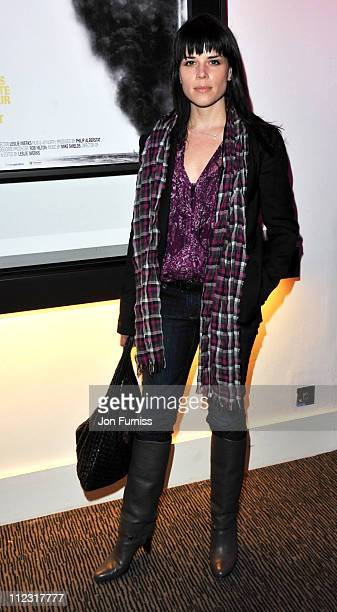 Neve Campbell attends the UK Film Premiere of 'Dirty Oil' at Barbican Centre on March 15 2010 in London England