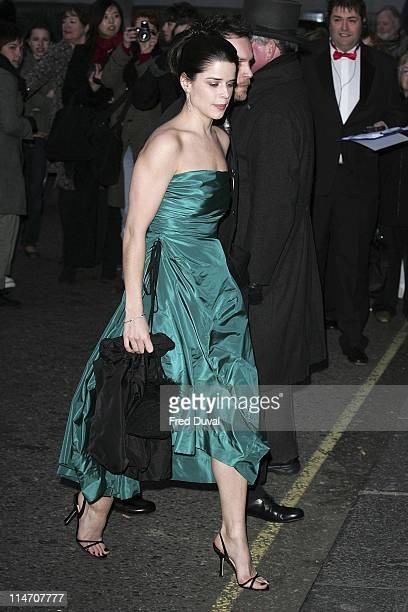 Neve Campbell during 2006 Laurence Olivier Awards Arrivals at London Hilton in London United Kingdom