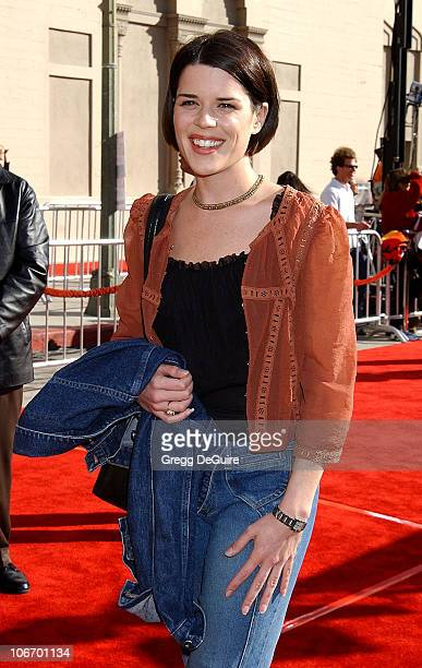 Neve Campbell during 20th Anniversary Premiere of Steven Spielberg's ET The ExtraTerrestrial Red Carpet at Shrine Auditorium in Los Angeles...