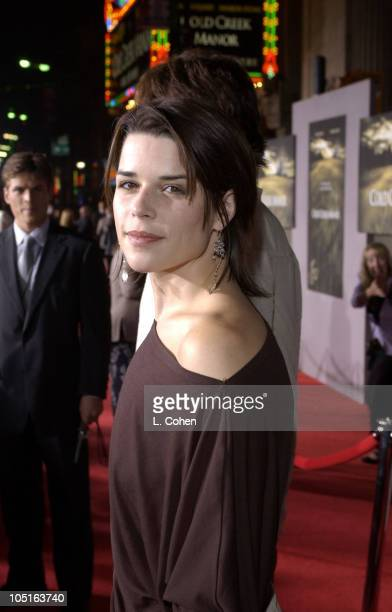 Neve Campbell during Cold Creek Manor Premiere Red Carpet at El Capitan Theatre in Hollywood California United States