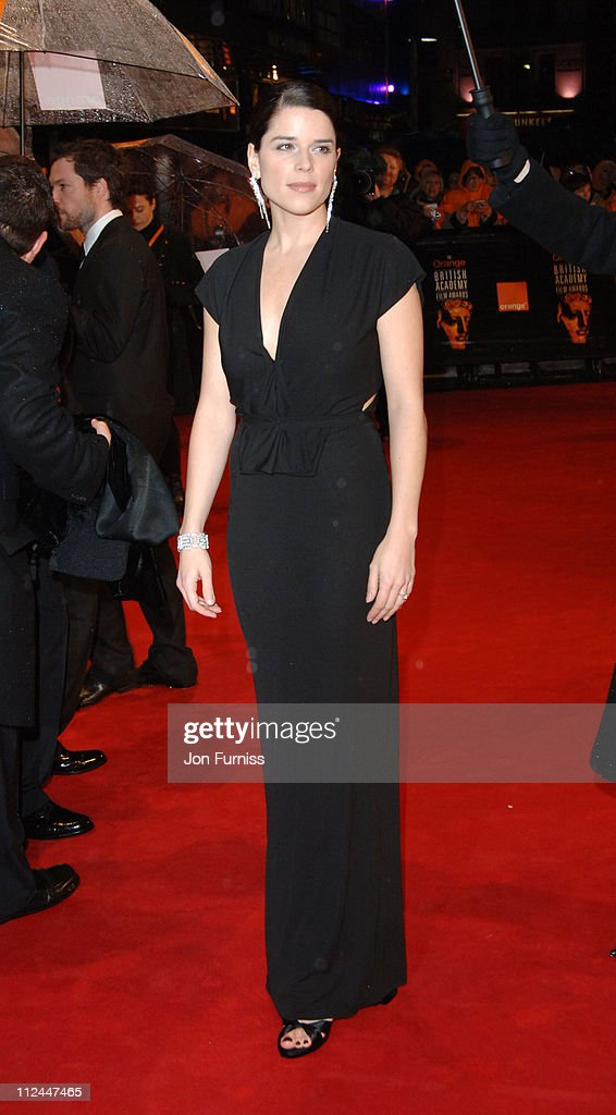 Neve Campbell during The Orange British Academy Film Awards 2006 - Outside Arrivals at Odeon Leicester Square in London, Great Britain.