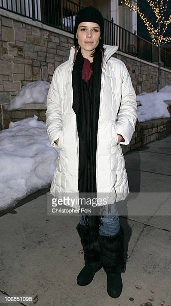Neve Campbell in Napapirji during UPP Hot House sponsored by The North Face Napapijri Hush Puppies Nautica LEE Biolage Absolut Atkins Wigwam and...