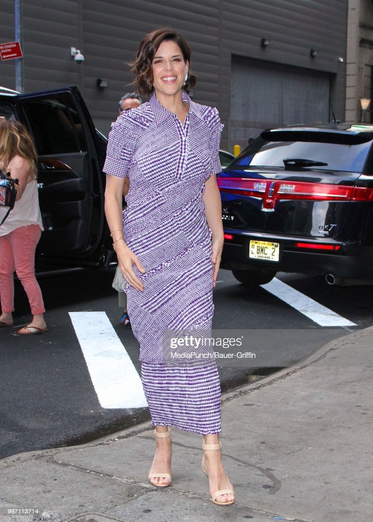 Neve Campbell is seen on July 12, 2018 in New York City.
